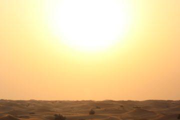 Sol en el desierto