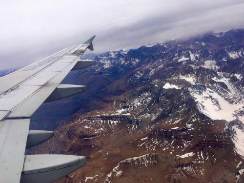 Aterrizaje en Santiago de Chile